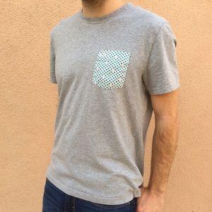 Original Penguin Shirts - Penguin Palm Tree Grey Tee T-Shirt Cool Pocket